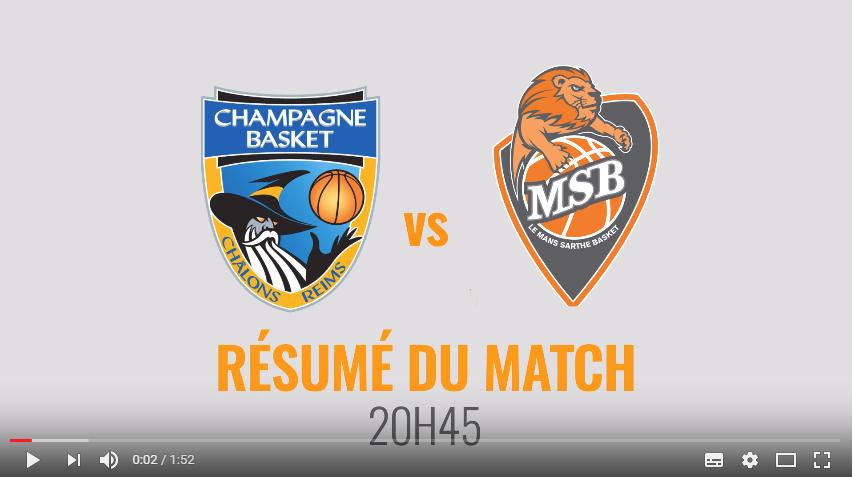 Résumé Châlons-Reims vs MSB - J24 Jeep® ÉLITE